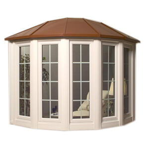 Bow Window with Hip Style Roof