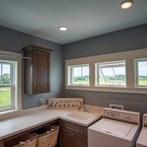 Endure Awning and Casement Windows - Laundry Room